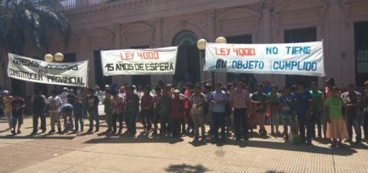 Comunidades Mbya Guaraní se movilizaron para reclamar por los Derechos Indígenas en la Constitución Provincial