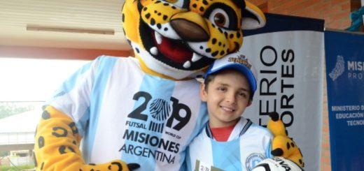 El yaguareté que animará el Mundial de Futsal 2019 fue bautizado con el nombre de Simón