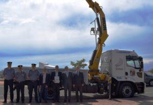 La Policía cuenta con un nuevo camión grúa para agilizar los trabajos de videovigilancia