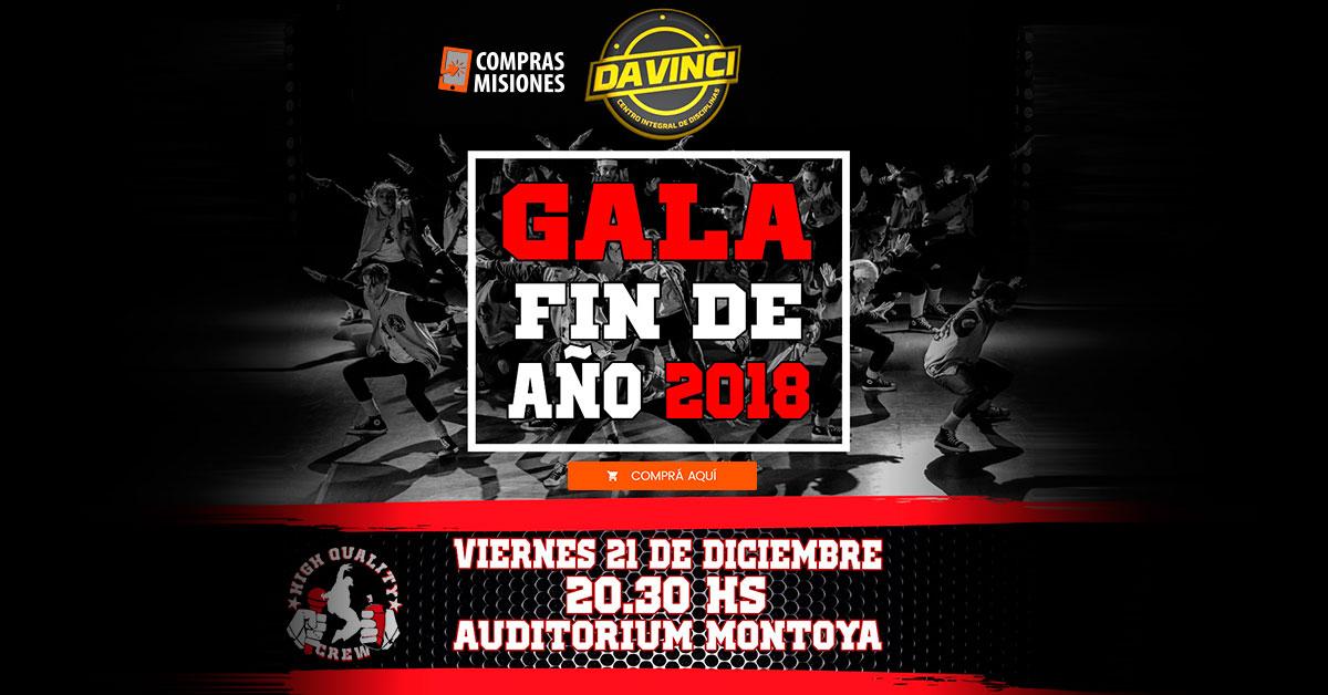 La Academia DaVinci realizará su Gran Gala de Fin de Año con lo mejor del Hip Hop y danzas urbanas…Adquirí las entradas en Compras Misiones