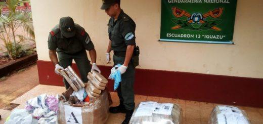 GN decomisó marihuana que iba a ser despachada en encomiendas desde Puerto Iguazú
