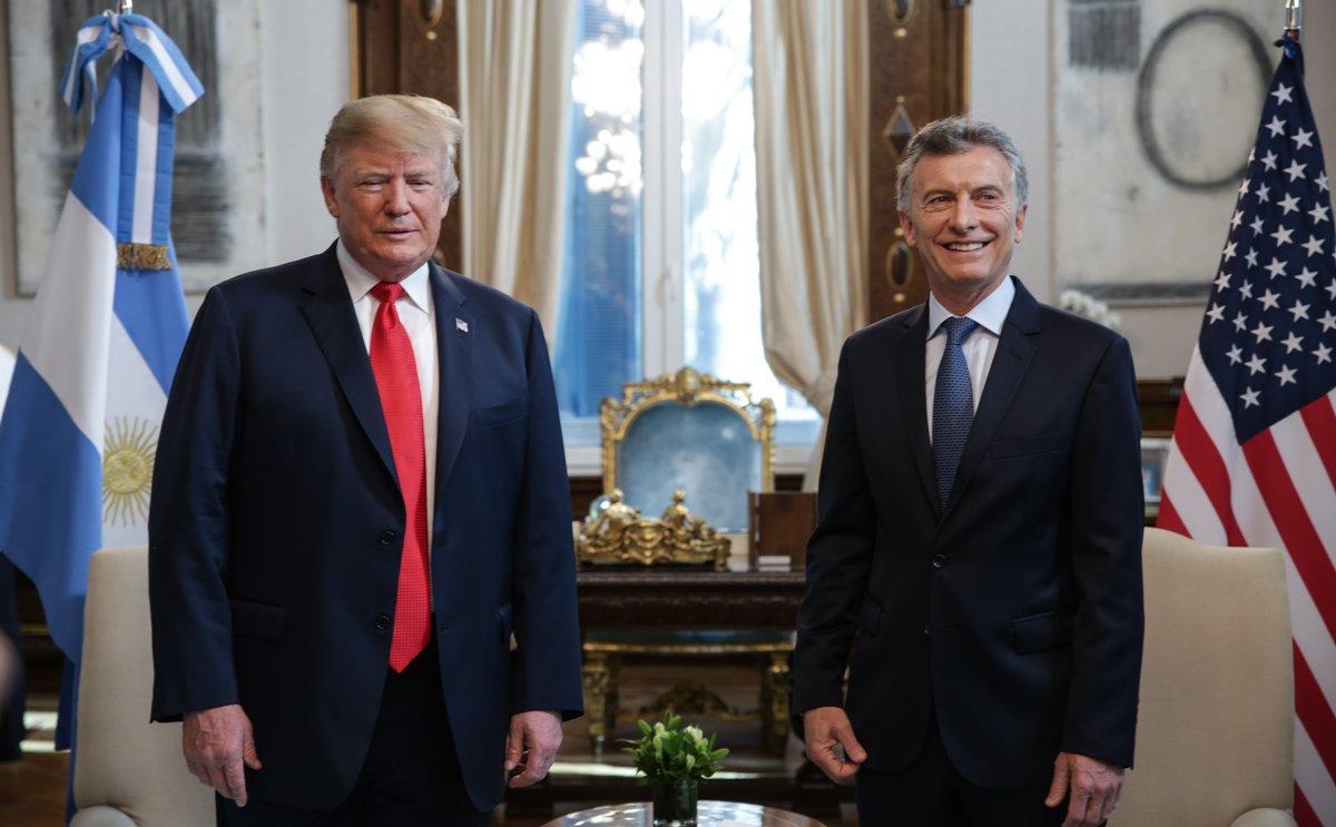 Cumbre del #G20: Macri recibió a Donald Trump en la Casa Rosada