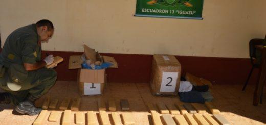 Interceptaron casi 50 kilos de marihuana que habían sido despachados desde Iguazú en encomiendas