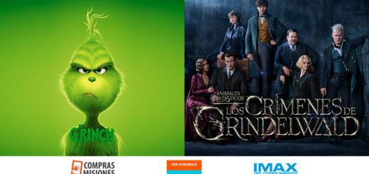 El Grinch llega al IMAX del Conocimiento y se suma a Animales Fantásticos: Los Crímenes de Grindelwald…Adquirí las entradas en Compras Misiones…