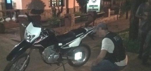 Abandonaron en San Ignacio una moto que había sido robada en Santa Ana