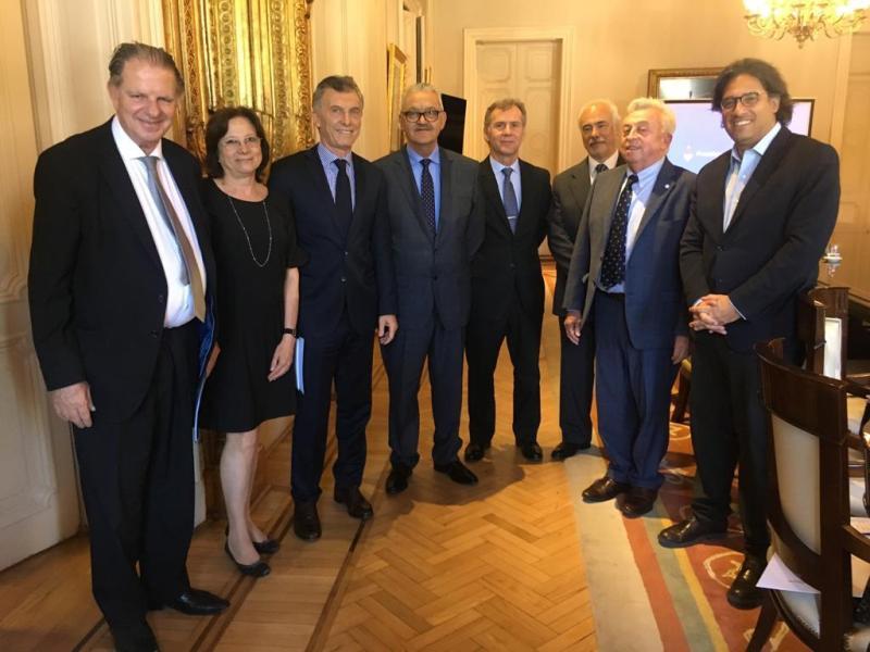 La Comisión Directiva de Ju.Fe.Jus se reunió con el Presidente Mauricio Macri