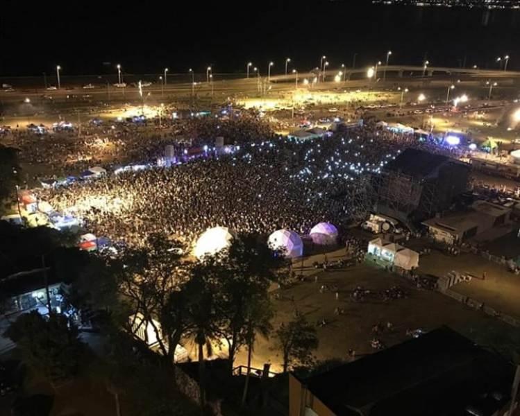 Una multitud se acercó a disfrutar del cierre del Movilfest 2018 con la gran actuación de Paulo Londra