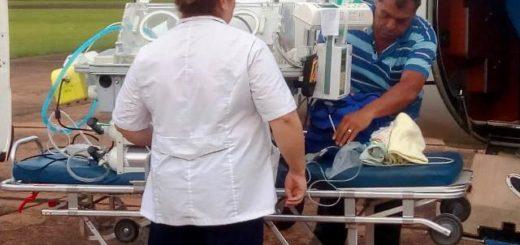 Eldorado: Bebé fue trasladada con el avión sanitario al Garrahan de Buenos Aires