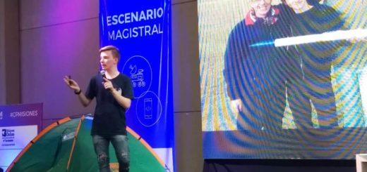 #CampusPartyMisiones: con tan sólo 19 años un estudiante de Electrónica disertó en el escenario Magistral