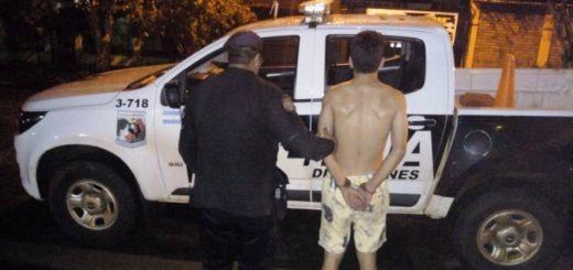 Detuvieron a un joven por robar en una casa del barrio Giovinazzo de Posadas