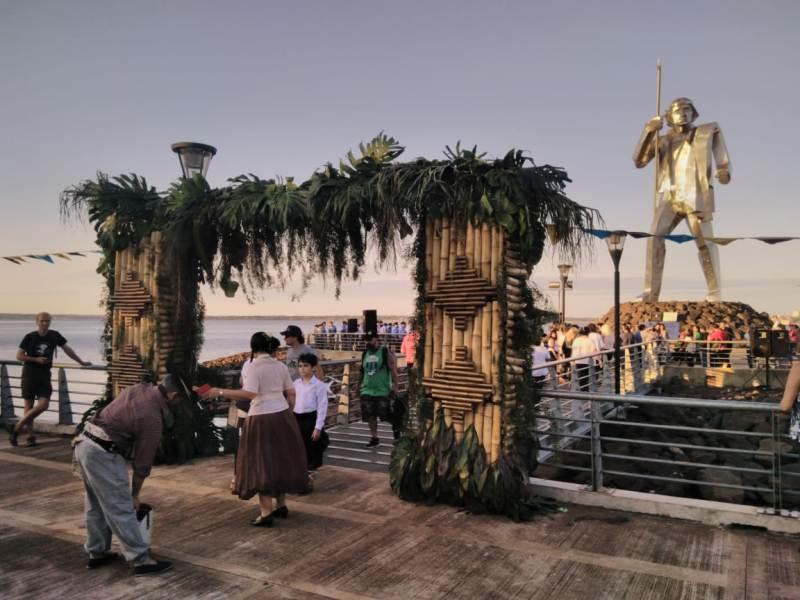 La Kermesse Litoraleña organizada por Mandu'a homenajeó a Andresito Guacurarí en el día de su natalicio