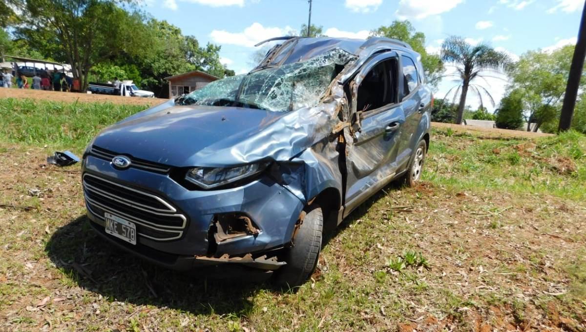 Irigoyen: mujer murió tras ser embestida por una camioneta que luego volcó