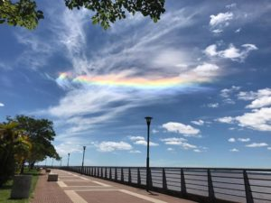 El cielo de Misiones se tiñó de colores este domingo