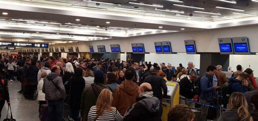 Vuelos demorados en Aeroparque por protesta gremial