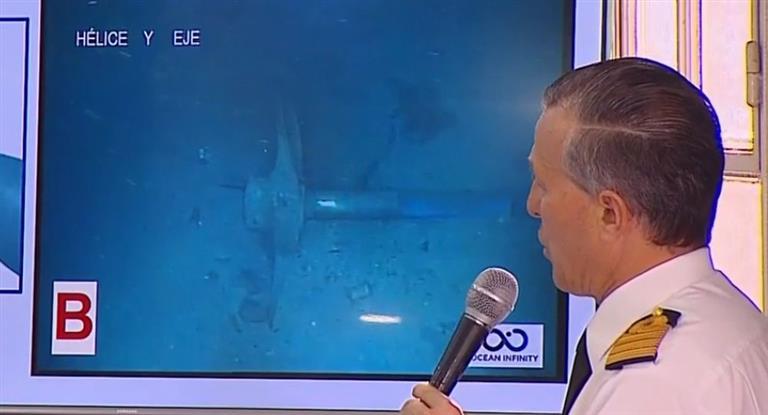 Las fotografías que tomó el robot submarino a 900 metros de profundidad