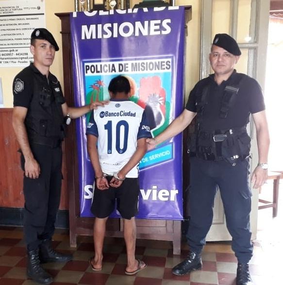 """San Javier: Policías detuvieron a """"Loby"""" quien se encontraba prófugo por un hecho de extorsión y agresión"""