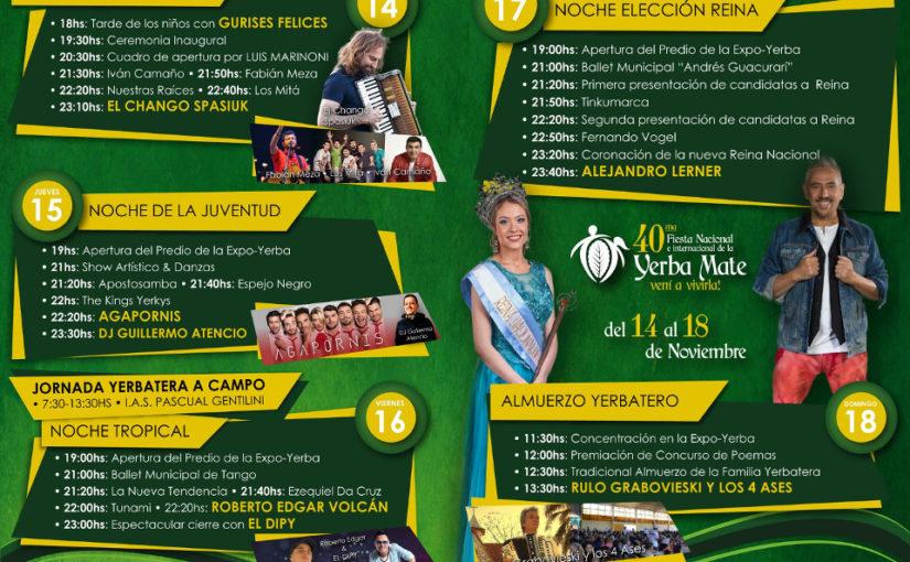 Apóstoles: Todo organizado para vivir la edición Nº40 de la Fiesta Nacional de la Yerba Mate