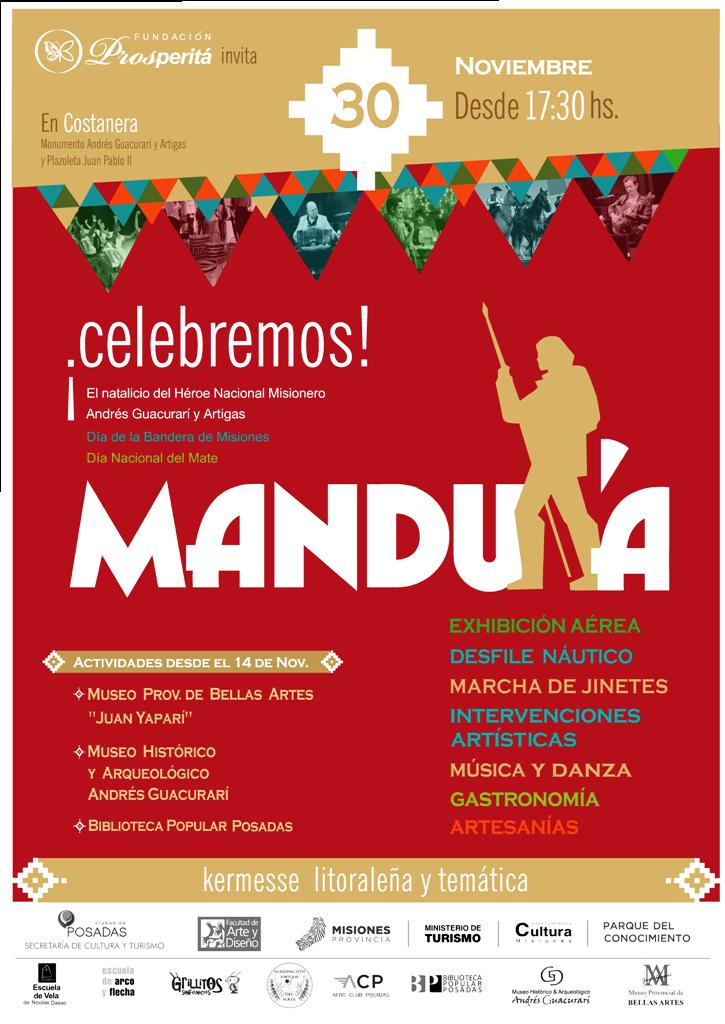 Hoy es el gran cierre de Mandu'a, la gran kermesse litoraleña para celebrar la viday obra del héroe de las misiones, Andresito