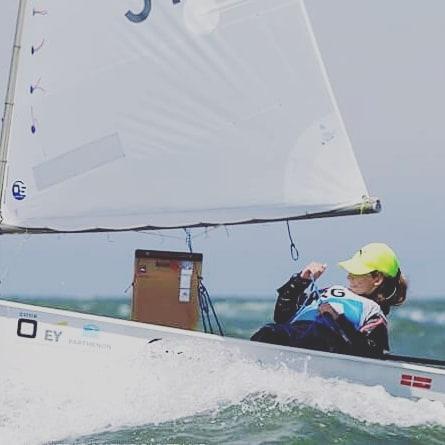 Optimist: Victoria Mackinnon compitió en Brasil