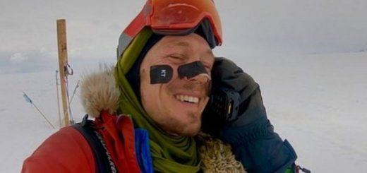 Un hombre cruza la Antártida a pie, solo y sin ayuda