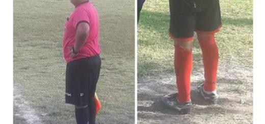 Un noble gesto que se hizo viral: Un niño no tenía botines y el árbitro le prestó los suyos para que pudiera jugar