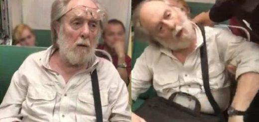 Video: Le sacó fotos a una chica en el tren, lo descubrieron y fingió un infarto ante el escrache