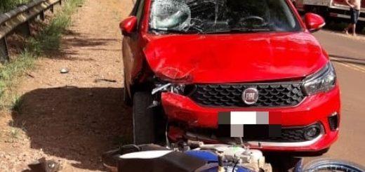 En Colonia Aurora, un motociclista falleció tras una colisión en la Ruta Costera 2