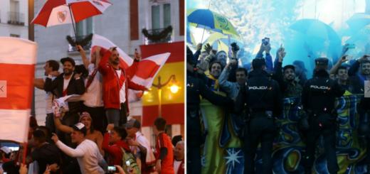 #SuperFinalLibertadores: Vea las mejores imágenes que dejaron los banderazos de River y de Boca en Madrid