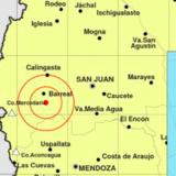 En Salta se produjo un sismo de magnitud 5,1 en la escala de Richter