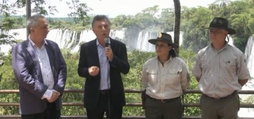 Mauricio Macri desde las Cataratas del Iguazú, anunció conectividad en zonas turísticas