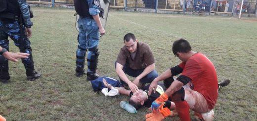 Ya liberaron al futbolista que noqueó al árbitro en la final de la Liga Posadeña