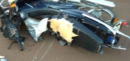Detuvieron a un automovilista que habría huido tras chocar con una motociclista