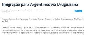 Ahora turistas argentinos podrán registrarse vía on line antes de viajar a Brasil