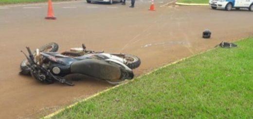 Motociclista grave tras un despiste en el acceso a San Pedro
