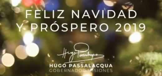 El Gobernador de Misiones, Hugo Passalacqua saludó a los misioneros por las fiestas