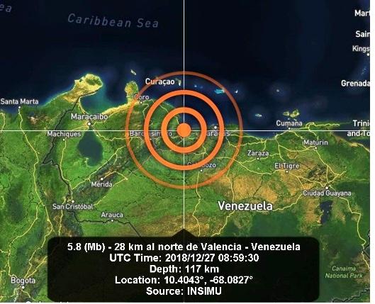 Terremoto de 4.9 grados sacudió Venezuela