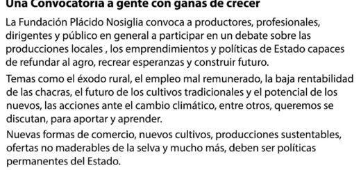 """Se llevará a cabo la jornada """"Una Chacra Moderna"""" en San Vicente"""