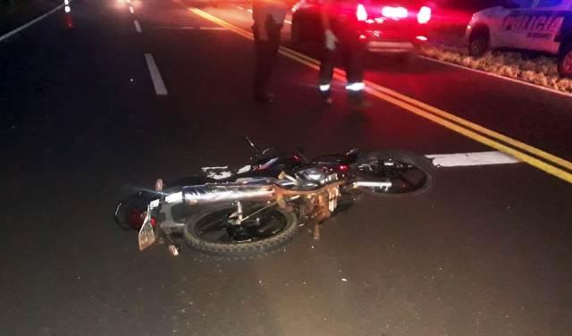 Capioví: Motociclista despistó y murió en ruta 12