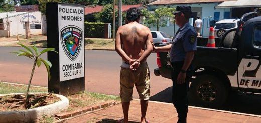 Violento fue detenido por golpear a su pareja en Posadas