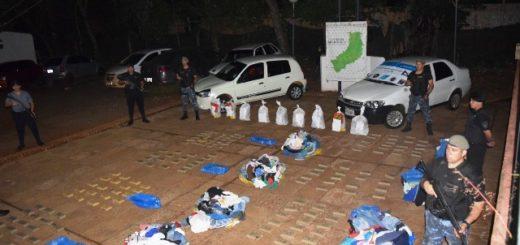 Narcoencomiendas: la Policía abrió más bultos y en total incautó 331 panes de marihuana en Puerto Iguazú