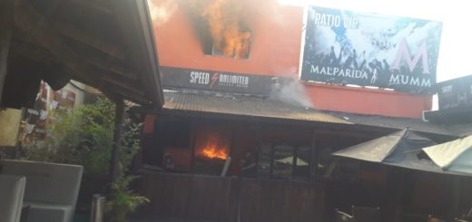 Posadas: Se incendió totalmente la radio y zona de depósito del boliche Malparida