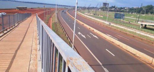 No hay cola para cruzar de Posadas a Encarnación por el puente Internacional San Roque González de Santa Cruz