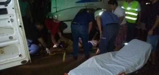 Choque de motos dejó dos heridos en Eldorado
