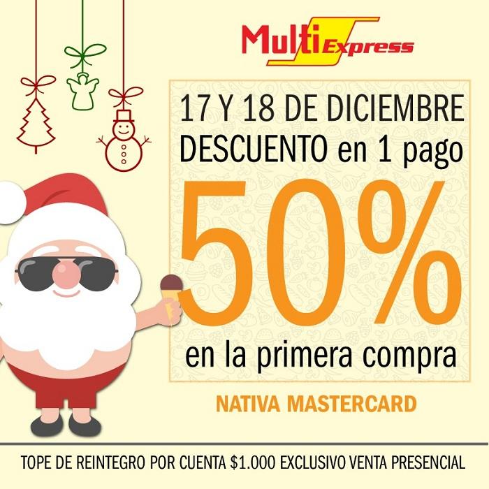 Llega fin de año y MultiExpress se juega con grandes promociones de hasta el 50%, sorteos y mucho más