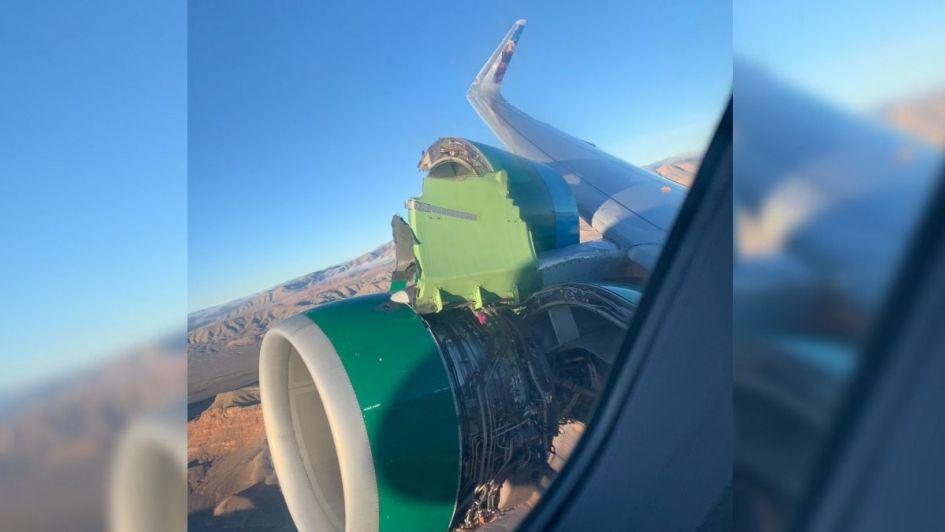 Un vuelo de terror: una turbina de avión se destruyó en pleno vuelo y desató el pánico de los pasajeros