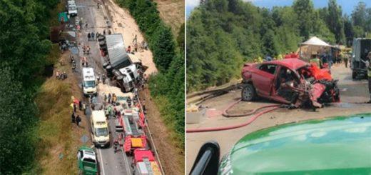 Accidente fatal en Chile: nueve muertos y 11 heridos en un triple choque
