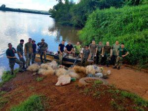 Golpe a la pesca furtiva sobre el río Uruguay