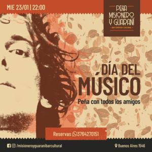 Celebrarán el Día Nacional del Músico en la peña Misionero y Guaraní