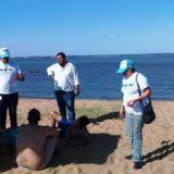 #VeranoEnPosadas: comenzaron las clases de cardio kids y entrenamiento funcional en las playas de Miguel Lanús y El Brete