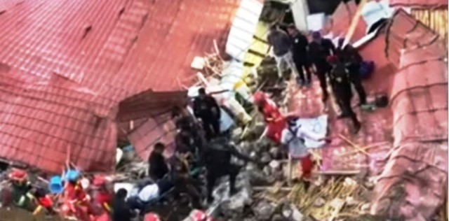 Perú: al menos 15 muertos por la caída de una pared en un hotel donde celebraban una boda